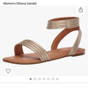 NIB Women's Ugg Athena sandals in gold size 8